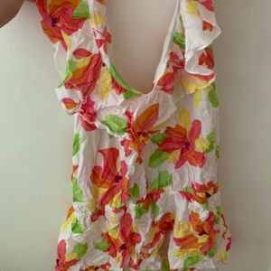 Victoria's Secret floral beach coverup dress